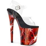Punaiset 20 cm FLAMINGO-808STORM Hologrammi platform korkokengät naisten
