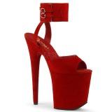 Punaiset 20 cm FLAMINGO-891 mokkanahka platform korkokengät naisten