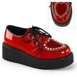 Punaiset 5 cm CREEPER-108 creepers kengät naisten platform paksut pohjat