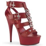 Punaiset Keinonahka 15 cm DELIGHT-658 korokepohja pleaser kengät