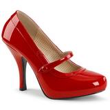 Punaiset Kiiltonahka 11,5 cm PINUP-01 suuret koot avokkaat kengät
