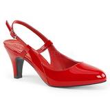 Punaiset Kiiltonahka 7,5 cm DIVINE-418 suuret koot avokkaat kengät