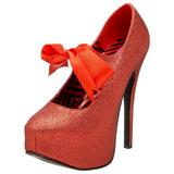 Punaiset Kimalle 14,5 cm Burlesque TEEZE-04G naisten kengät korkeat korko