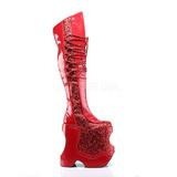 Punaiset Kimalle 22 cm FABULOUS-3035 Reisisaappaat varten Drag Queen