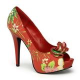 Punaiset Kukkia 13 cm LOLITA-11 naisten kengät korkeat korko