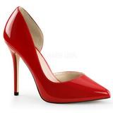 Punaiset Lakatut 13 cm AMUSE-22 klassiset avokkaat kengät naisten