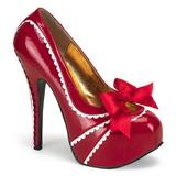 Punaiset Lakatut 14,5 cm Burlesque TEEZE-14 naisten kengät korkeat korko