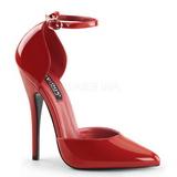 Punaiset Lakatut 15 cm DOMINA-402 Naisten kengät avokkaat
