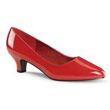 Punaiset Lakatut 5 cm FAB-420W Naisten kengät avokkaat