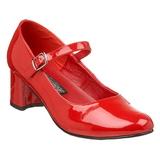 Punaiset Lakatut 5 cm SCHOOLGIRL-50 klassiset avokkaat kengät naisten