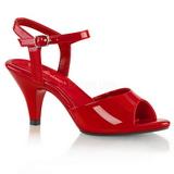 Punaiset Lakatut 8 cm BELLE-309 Naisten Sandaletit Korkea