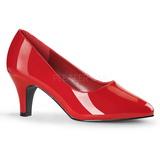 Punaiset Lakatut 8 cm DIVINE-420W Naisten kengät avokkaat