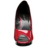 Punaiset Lakka 12 cm FLAIR-474 Platform Avokärkinen Kengät