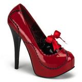 Punaiset Lakka 14,5 cm Burlesque BORDELLO TEEZE-01 Platform Avokkaat Kengät