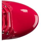 Punaiset Lakka 15,5 cm DELIGHT-1020 Platform Nilkkasaappaat