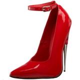 Punaiset Lakka 15 cm SCREAM-12 Fetish Avokkaat Kengät