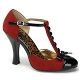 Punaiset Mokkanahka 10 cm SMITTEN-10 Rockabilly Naisten kengät avokkaat