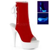 Punaiset Neon 15 cm DELIGHT-1018SK kangas tennarit korkokengät