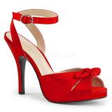 Punaiset Satiini 12,5 cm EVE-01 suuret koot sandaalit naisten