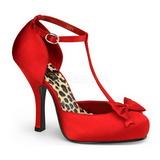 Punaiset Satiini 12 cm retro vintage CUTIEPIE-12 Naisten kengät avokkaat