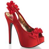 Punaiset Satiini 14,5 cm Burlesque TEEZE-56 Korkeakorkoiset Kengät