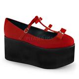 Punaiset kangas 8 cm CLICK-08 lolita kengät gootti platform
