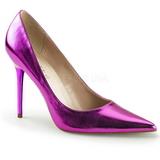 Purppura Metallinen 10 cm CLASSIQUE-20 suuret koot stilettos kengät