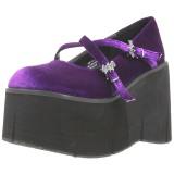 Purppura Sametti 11,5 cm KERA-10 lolita kengät paksut pohjat
