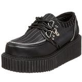 Raidallinen 5 cm CREEPER-113 creepers kengät naisten paksut pohjat