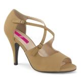 Ruskea Keinonahka 10 cm DREAM-412 suuret koot sandaalit naisten