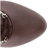 Ruskea Keinonahka 12,5 cm EVE-106 suuret koot nilkkurit naisten