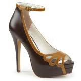 Ruskea Keinonahka 13,5 cm BELLA-31 naisten avokärkiset avokkaat kengät