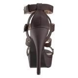 Ruskea Keinonahka 14,5 cm Burlesque TEEZE-42W miesten korkokengät leveään jalkaan