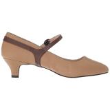 Ruskea Keinonahka 5 cm FAB-425 suuret koot avokkaat kengät