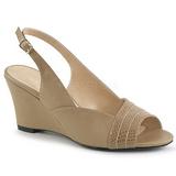 Ruskea Keinonahka 7,5 cm KIMBERLY-01SP suuret koot sandaalit naisten