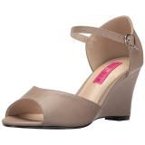 Ruskea Keinonahka 7,5 cm KIMBERLY-05 suuret koot sandaalit naisten