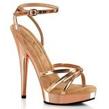 Ruusukulta sandaali 15 cm SULTRY-638 vegaani sandaali korkokengät platform