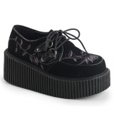 Sametti 7,5 cm CREEPER-219 naisten creepers kengät paksut pohjat