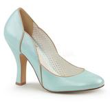 Sininen 10 cm SMITTEN-04 Pinup avokkaat kengät alhainen korot