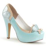 Sininen 11,5 cm BETTIE-20 Pinup avokkaat kengät piilotettu platform