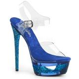 Sininen 16,5 cm ECLIPSE-608GT sandaalit piikkikorko