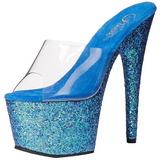 Sininen 18 cm ADORE-701LG kimallus platform puukengät naisten