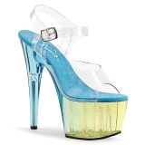 Sininen 18 cm ADORE-708MCT Akryyli platform korkokengät naisten