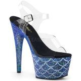 Sininen 18 cm ADORE-708MSLG kimallus platform sandaalit naisten