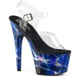Sininen 18 cm ADORE-708STORM Hologrammi platform korkokengät naisten
