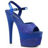 Sininen 18 cm ADORE-709-2G kimallus platform sandaalit naisten