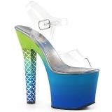 Sininen 18 cm ARIEL-708OMBRE Akryyli platform korkokengät naisten