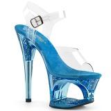 Sininen 18 cm MOON-708GFT kimallus platform sandaalit naisten