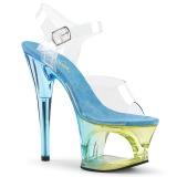 Sininen 18 cm MOON-708MCT Akryyli platform korkokengät naisten