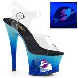 Sininen 18 cm MOON-708MER Neon platform korkokengät naisten